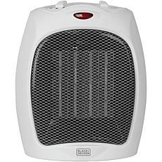 Black & Decker 1,500-Watt Desktop Ceramic Heater (White)