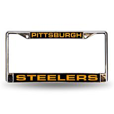 Black Chrome License Plate Frame - Pittsburgh Steelers