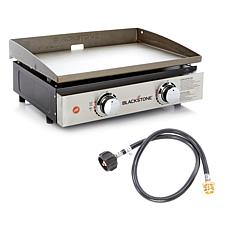 "Blackstone Portable Outdoor 22"" Table Top Gas Griddle w/Adapter Hose"