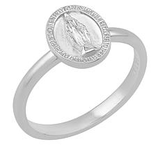 BlesT Sterling Silver Virgin Mary Oval Ring