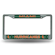 """Bling"" License Plate Frame - University of Miami"