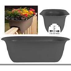 Bloem Modica 4-Gallon Deck Rail Planter - 24""