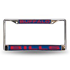 Blue Chrome License Plate Frame - Buffalo Bills