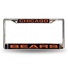 Blue Chrome License Plate Frame - Chicago Bears