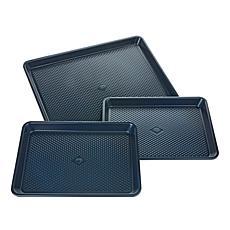 Blue Diamond 3-piece Nonstick Baking Sheet Set