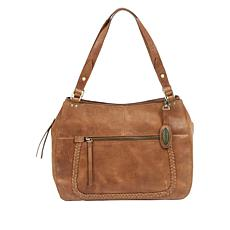 Born Distressed Cimmaron Leather Satchel