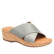 Born® Lola Leather X-Band Slide Sandal
