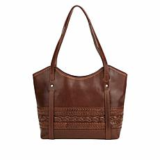 Born Mendoceno Distressed Leather Tote