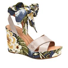 Born Salton Leather Floral Wedge Sandal