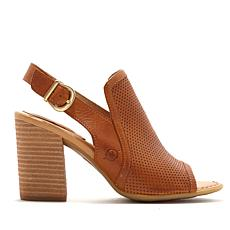 Born® Sutra Perforated Leather Block Heel Sandal