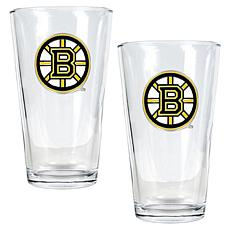 Boston Bruins 2pc Pint Ale Glass Set