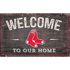 Boston Red Sox Welcome To Our Home Sign 11x19