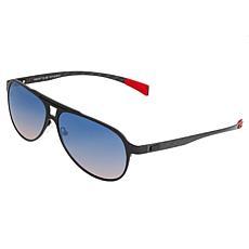 Breed Apollo Polarized Sunglasses - Black Frames and Blue Lenses