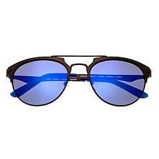 Breed Hercules Polarized Sunglasses - Brown Frames and Blue Lenses