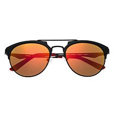 Breed Hercules Sunglasses with Black Frame and Yellow and Red Lenses