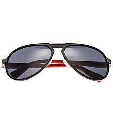 Breed Octans Titanium Polarized Sunglasses with Black Frames & Lenses