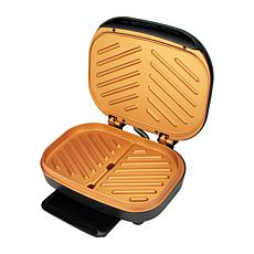 BrentwoodAppliances Nonstick Indoor Electric Copper Grill/Panini Press