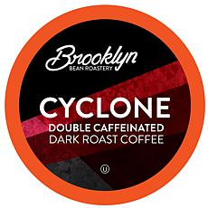 Brooklyn Beans Cyclone Double Caffeinated Coffee Pods 72-count