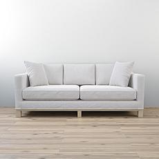 "Brookside Kay 85"" Two Cushion Track Arm Sofa with Wood Base"