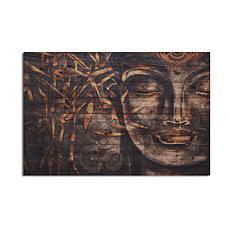Buddha 24x36 Print on Wood