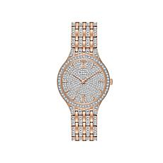 Bulova Crystal Rosetone Stainless Steel Pavé Watch