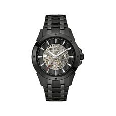 Bulova Gunmetaltone Skeleton Dial Bracelet Watch