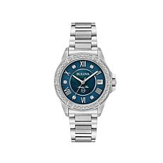 Bulova Marine Star Diamond-Accented Blue Dial Watch
