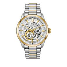 Bulova Men's 2-Tone Goldtone Stainless Steel Bracelet Automatic Watch