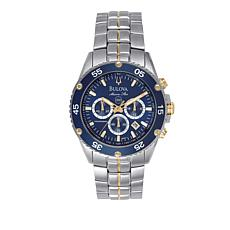 Bulova Men's Blue Dial Marine Star Watch