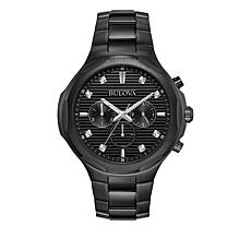 Bulova Men's Diamond-Accented Stainless Steel Chronograph Watch