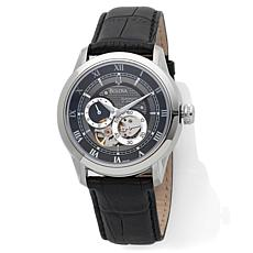 Bulova Men's Dual Aperture Mechanical Leather Watch