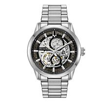 Bulova Men's Stainless Steel Bracelet Automatic Watch