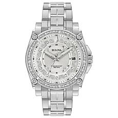 "Bulova ""Precisionist"" Diamond Silvertone Women's Bracelet Watch"