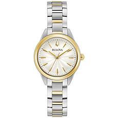 Bulova Two-Tone Stainless Steel Women's Bracelet Watch