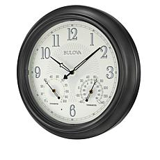 "Bulova ""Weather Master"" Illuminated Outdoor Wall Clock"