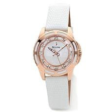 Bulova Women Mother-of-Pearl .36ctw Diamond Strap Watch
