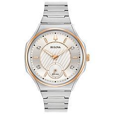 Bulova Women's CURV Diamond Rosetone-Accented Bracelet Watch
