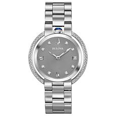 Bulova Women's Rubaiyat Diamond Stainless Steel Bracelet Watch