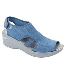 Bzees Dream Washable Peep-Toe Wedge Sandal