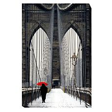 "Cahill ""Brooklyn Bridge Meets Red"" Wall Art - Small"