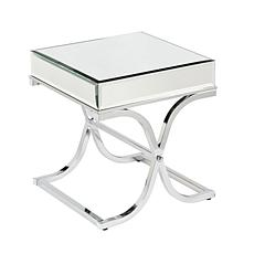 Callista Mirrored End Table - Chrome