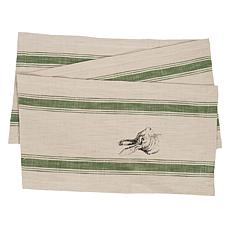 C&F Home Bunny Feed Sack Table Runner