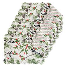 C&F Home Chickadee Cotton Quilted Oblong Placemat Set of 6