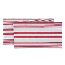 C&F Home Classic Stripes Red & White Table Runner