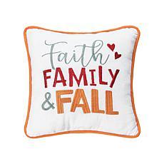 """C&F Home """"Faith, Family & Fall"""" Pillow"""