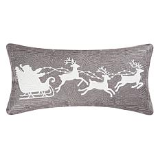 C&F Home Gray Flying Sleigh Pillow
