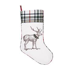 C&F Home Holly Deer Stocking