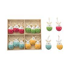 C&F Home Metal Bunny Ornaments Set of 16
