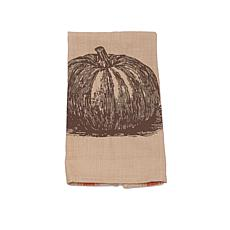 C&F Home Pumpkin Feed Sack Table Runner