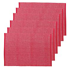 C&F Home Ribbed Chambray Red Cotton Placemat Set of 6